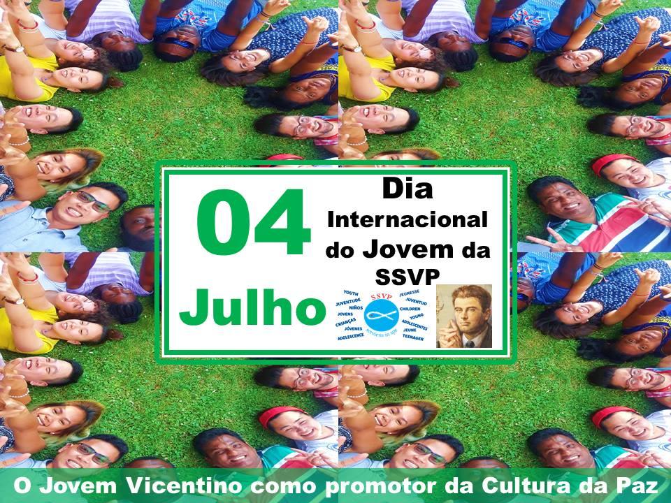 No próximo dia 04 de julho, os Jovens Vicentinos da SSVP comemorarão seu Dia Internacional