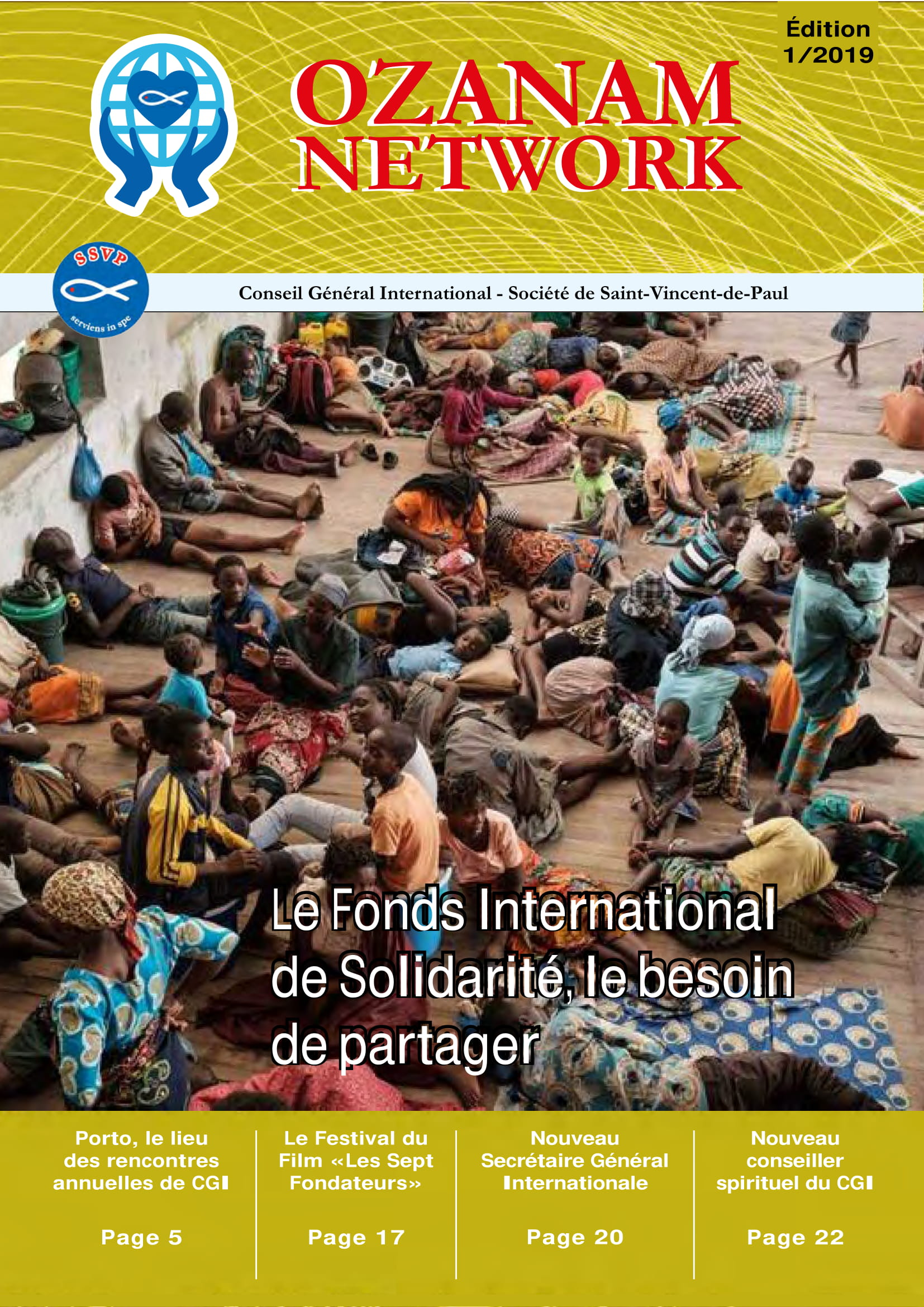 Newsletter Internationale – Ozanam Network 01/2019